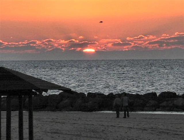 Sunset Over The Sea.JPG