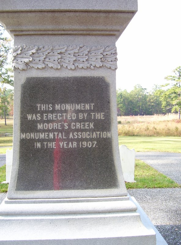 Memorial of Battle at Moores Creek,N.C.