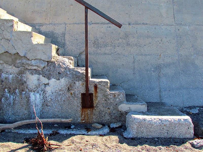 escalier de béton à Les Boules