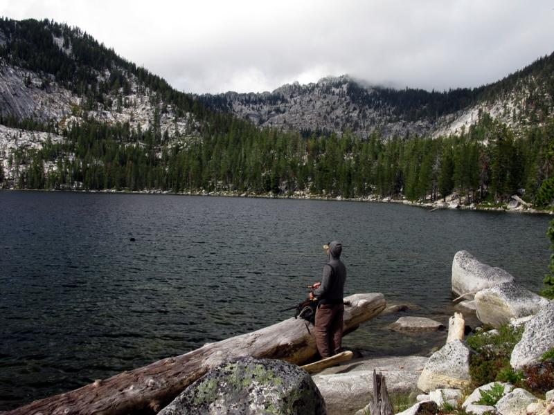 Big Duck Lake fisherman