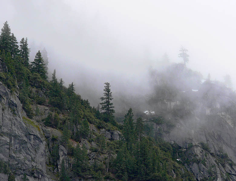Foggy ridge