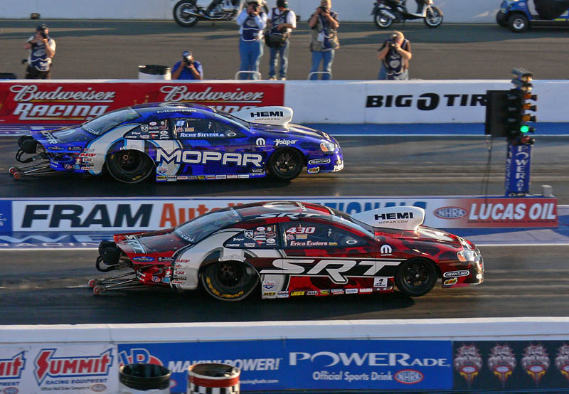 Pro stock cars on their way