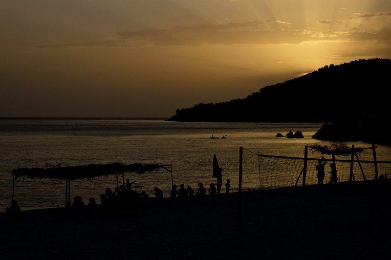 Himara - Spile Beach Sunset