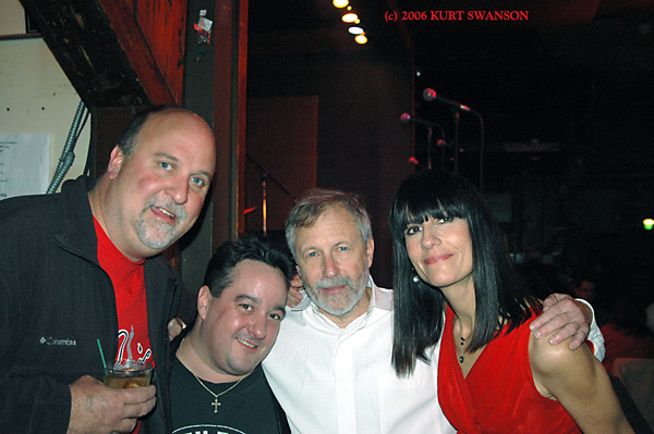 S.I.s Kurt Swanson with Pat Smillie, Corky Siegel, and Marcy Levy