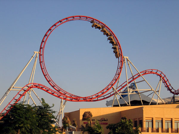 Looping rollercoaster, Dubailand Sales Center