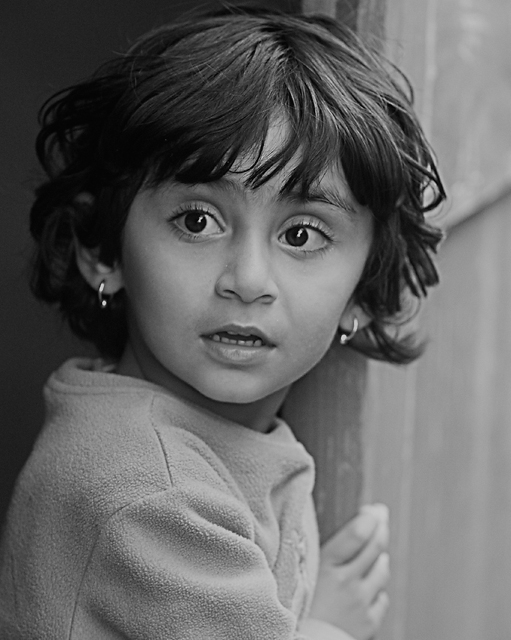 Little girl in mono