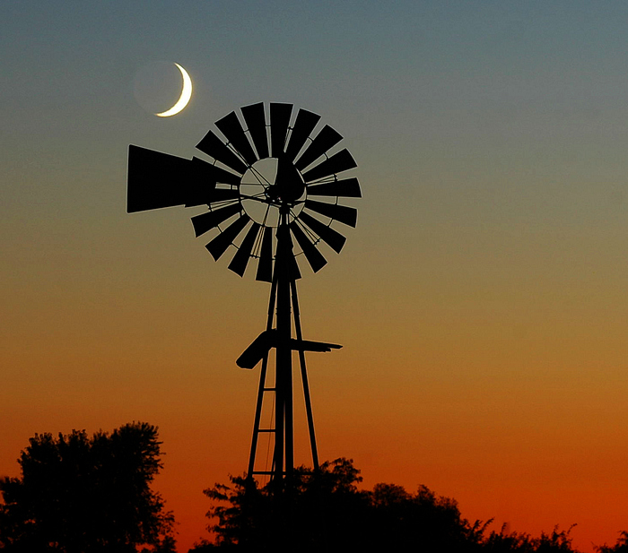 Moon & Windmill (Composition #2)