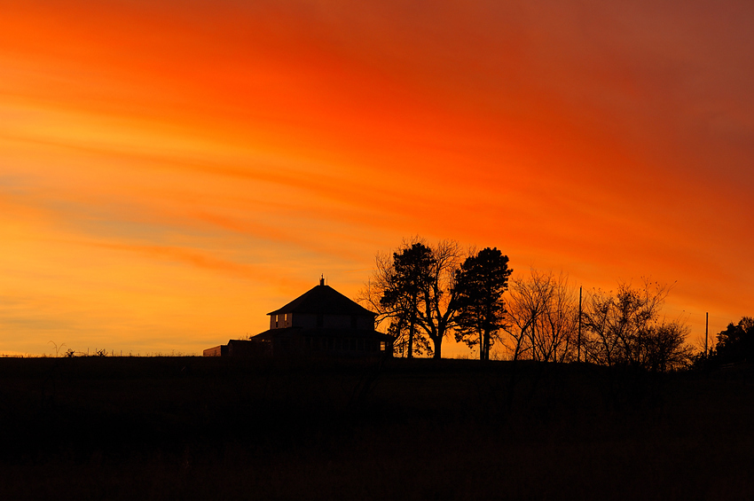 Sunset & Old House