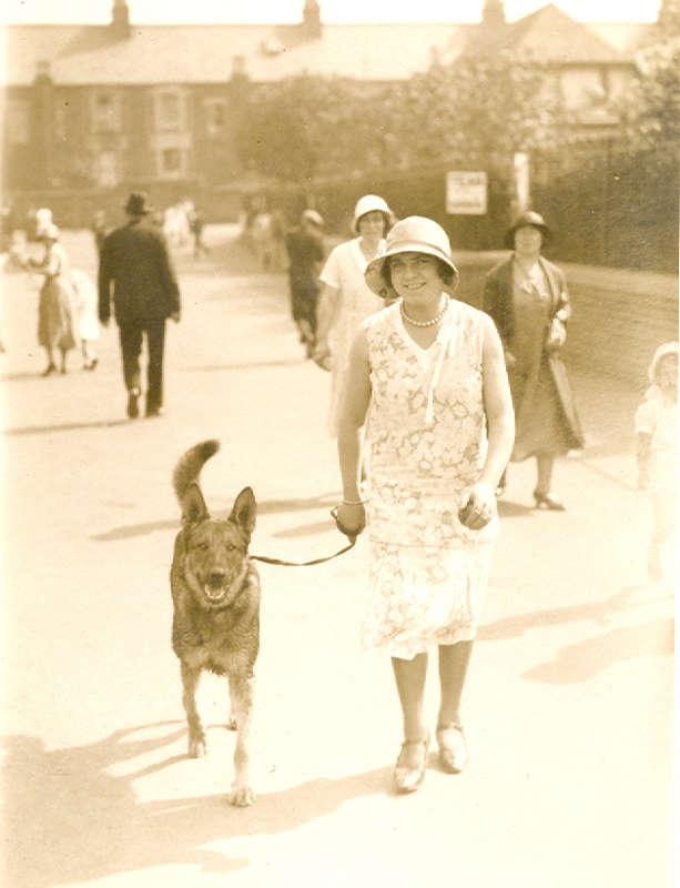 Agnes Betts - Walking the dog