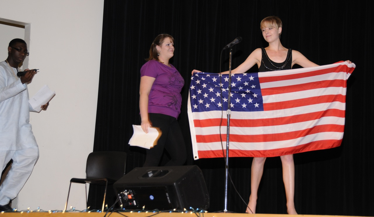 ISU International Night 2011 flag bearer and hosts _DSC1716.jpg