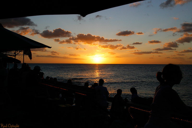 Maho Beach Sunset