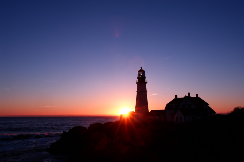 DSC09776.jpg THE SUN RIDES THE WAVES at portland head light! see a 2nd image at...
