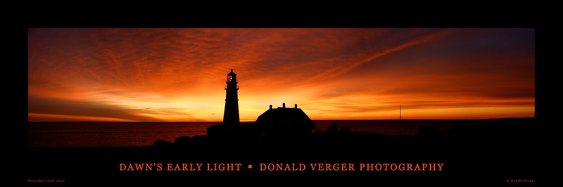 DAWN EARLY LIGHT at portland head light, my first finisded panorama 3/20/07