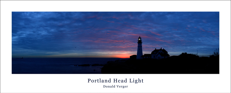 JAN 5TH 1st draft of PORTLAND HEAD LIGHT DAWN TENRILS this moment lasted about 30 seconds! lighthouses, maine,