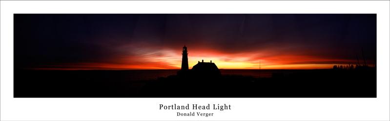 Dec 22 Bird Pano800.jpg predawn SUNRISE at PORTLAND HEAD LIGHT donald verger maine lighthouses