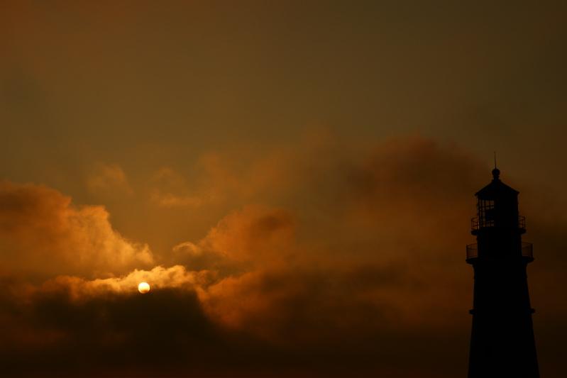 DSC00109phl.jpg HOPE The Sun Rises thru the Storm At Portland Head Light and the Atlantic Ocean