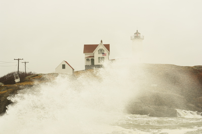 DSC04124.jpg nubble light lighthouse or The Nubble ... nor easter blows thru, most roads closed