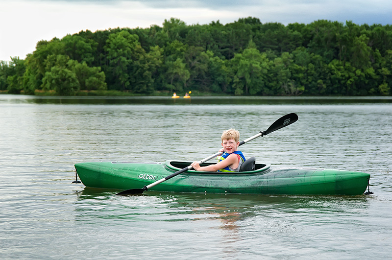 Ryan kayaking on the 4th of July