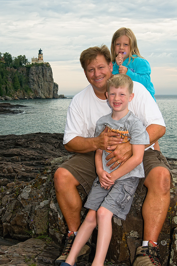 Dad with Ryan & Caitlin at Split Rock L.H.
