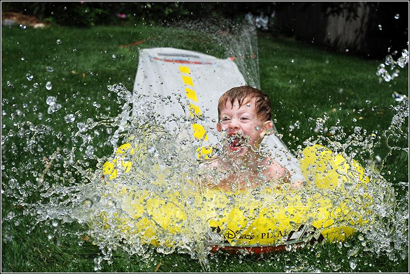 Ryans slip and slide splash