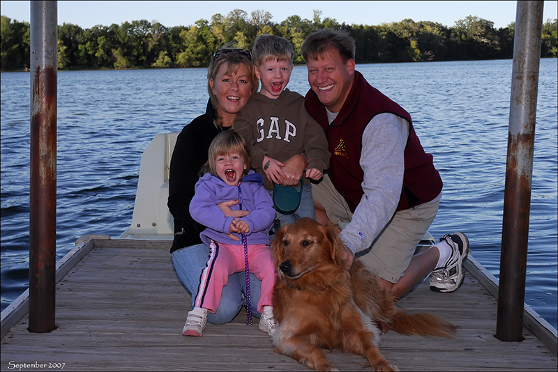 Our family at Cleary Lake