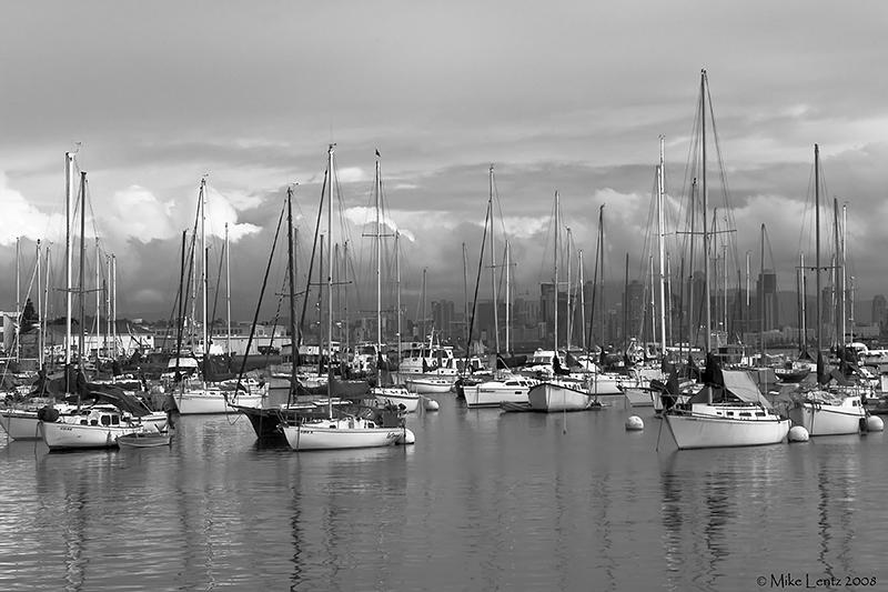 Shelter Island sailboats (San Diego, CA)