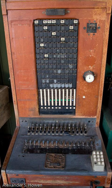 Retired telephone switchboard