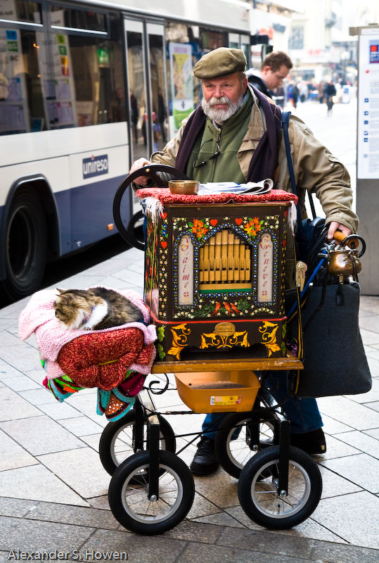 Swiss organ grinder and friend