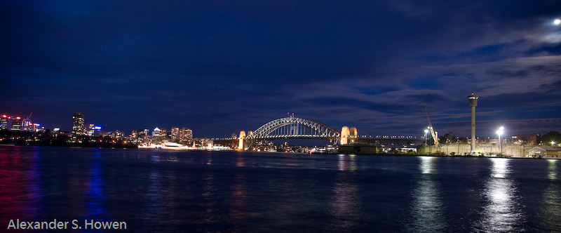 Western approaches to the Harbour Bridge