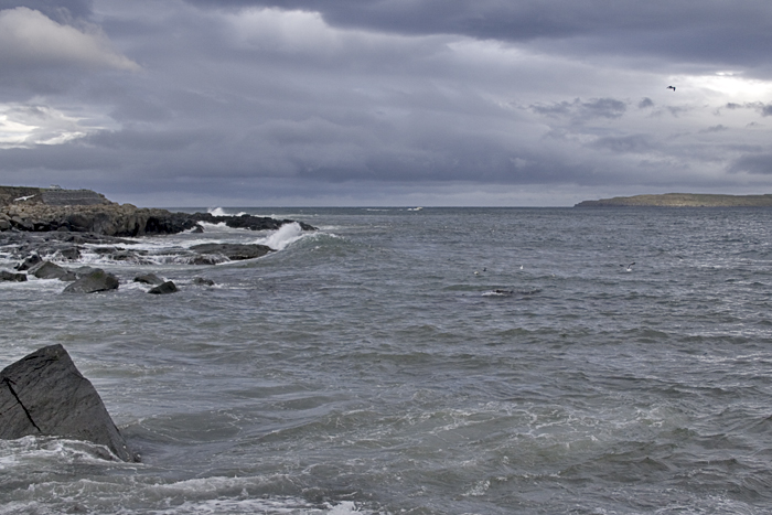 The sea outside Skansin, Torshavn