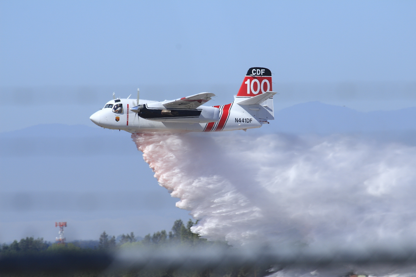 Air Tanker dropping its load