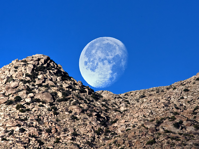 Moon and the Mountain