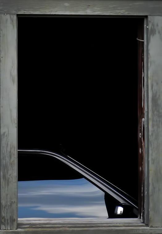 Through a garage window