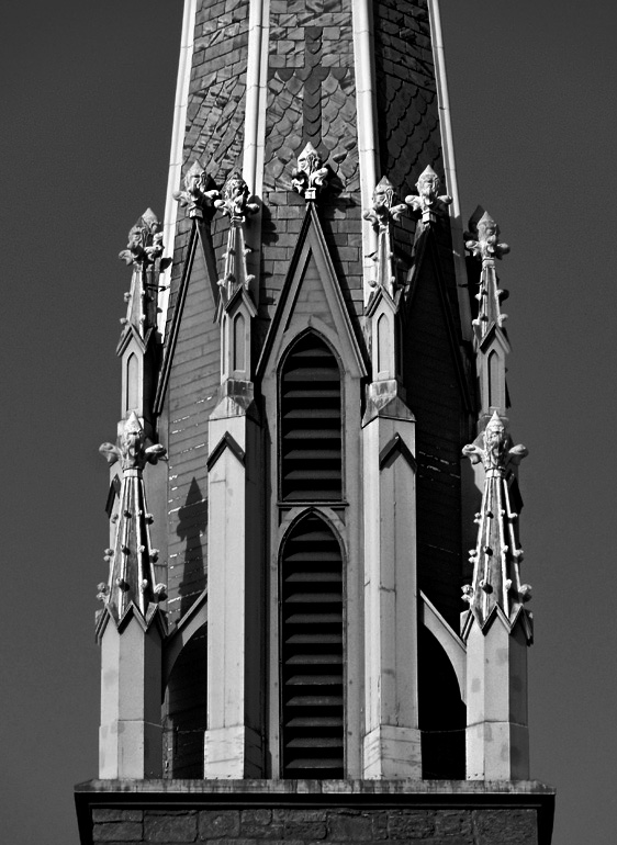 Steeple St. John Church - B&W
