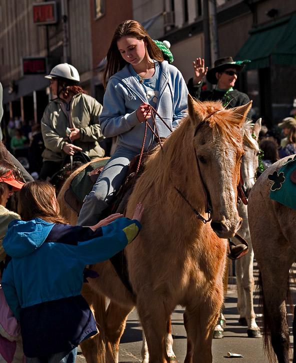 Irish colleen on horseback