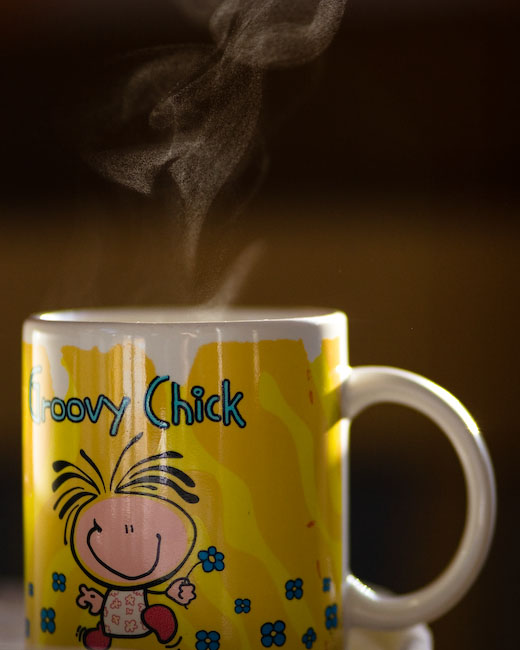 Coffee for a goovy chick