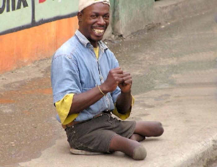 happy guy on the street