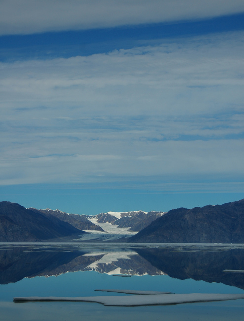 Reflections of Sermilik glacier
