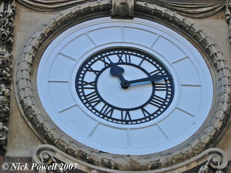 Ramsgate Library Clock prior to the 2004 fire.