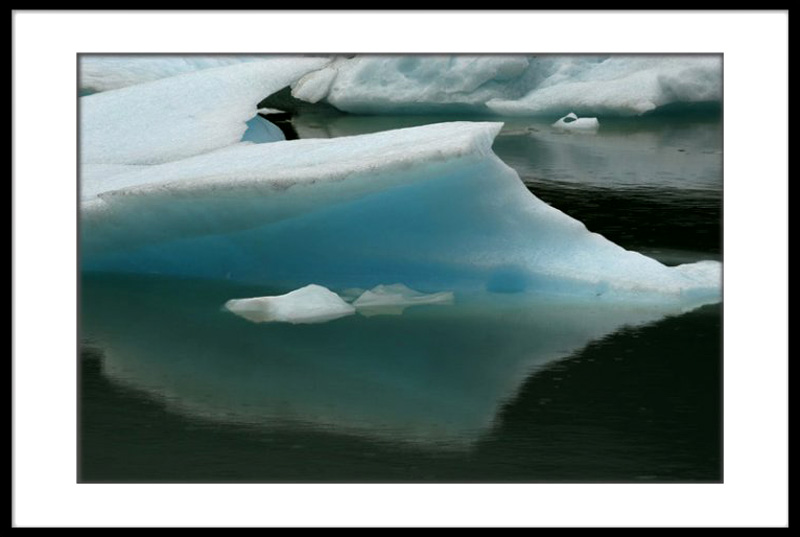 Ice from Balmaceda Glacier