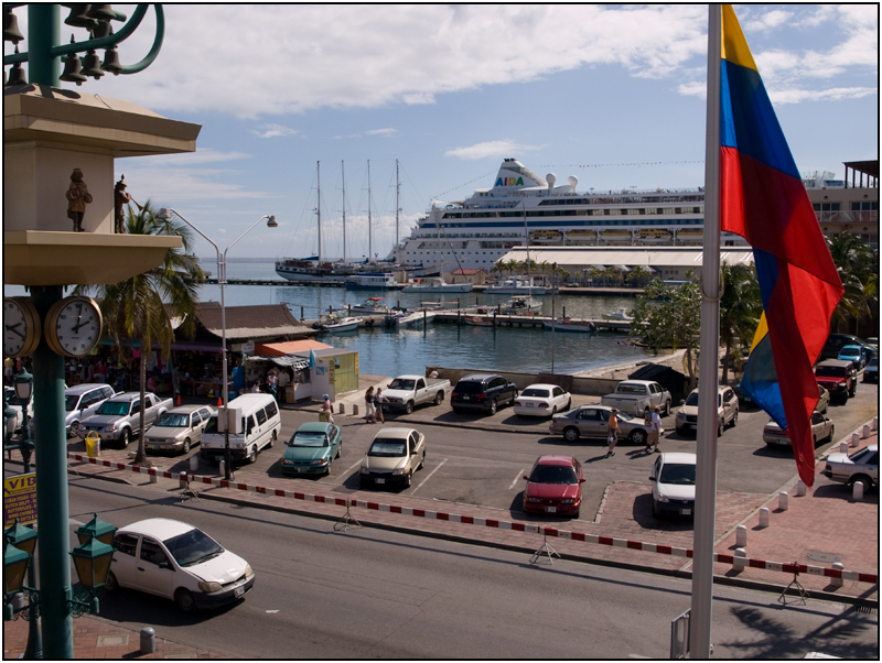 Cruise Ship Port as Seen From Iguana Joes