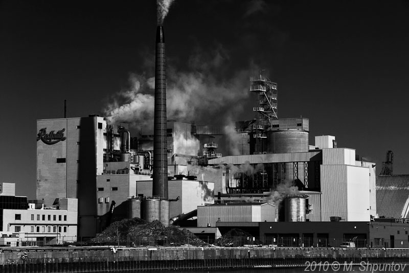 Redpath Sugar Plant. View from Lake Ontario. Toronto