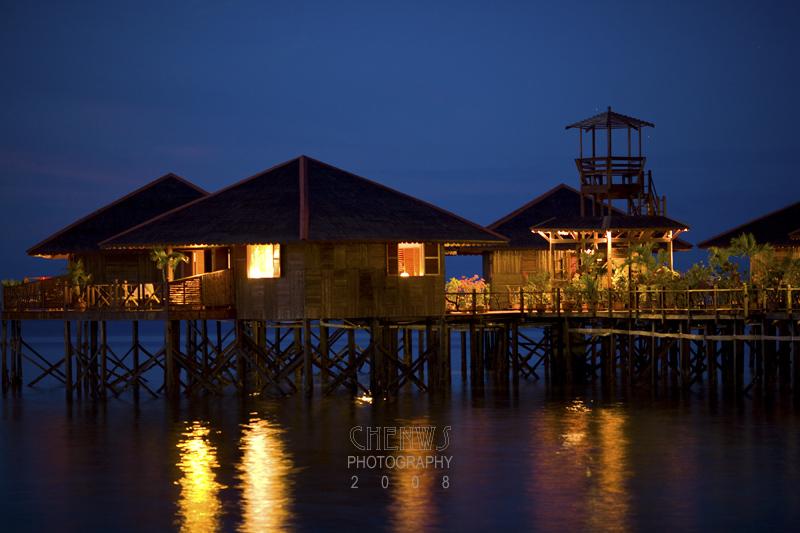 Resort at dusk