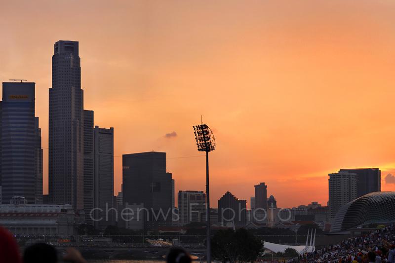 Marina Bay Circuit at sunset