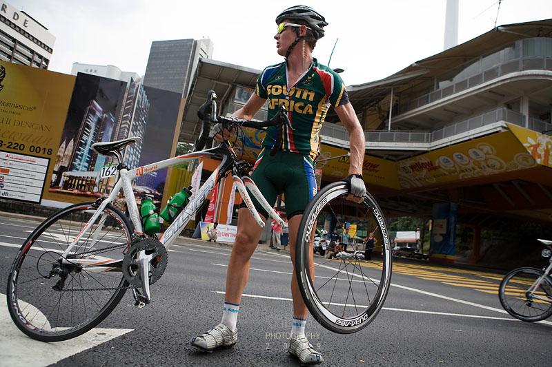 Wheel off the bike