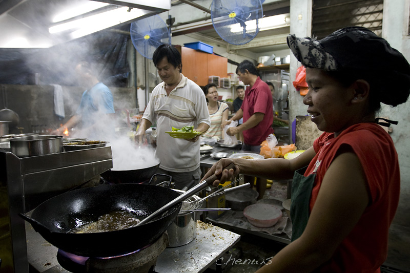 Cooks in a restraurant, Malacca