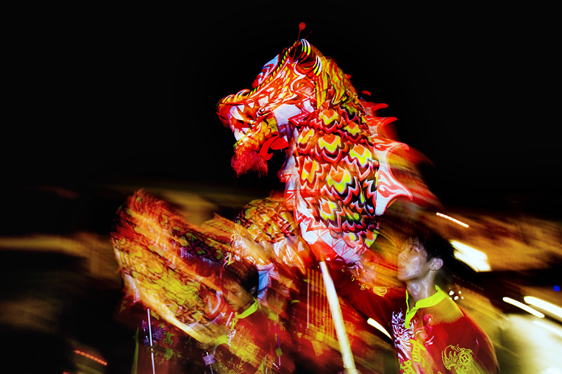 Dragon dance, Malacca