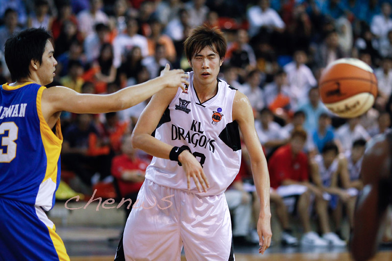 Li Wei throwing a pass (0802)