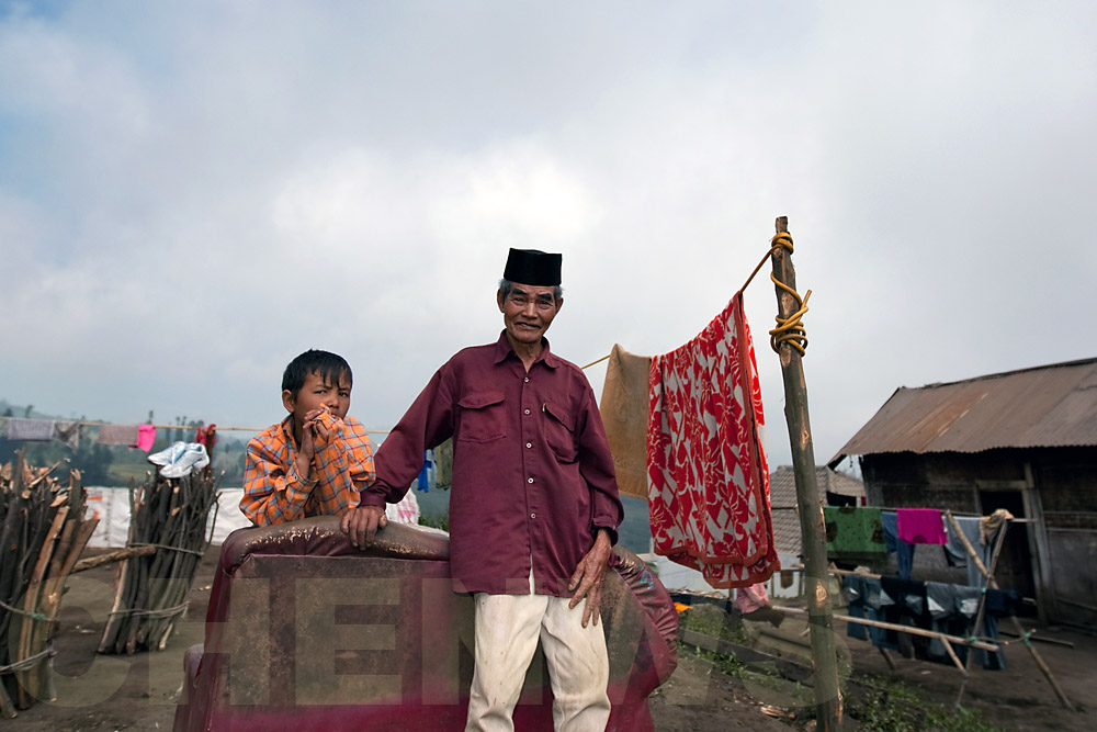 Muslim man and grandson
