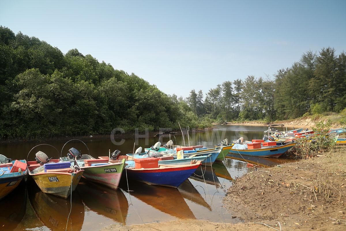 Fishermen boats, Kg Sungai Ular